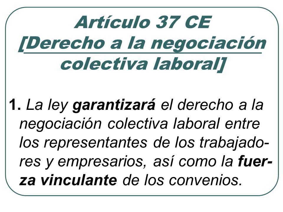 Artículo 37 CE [Derecho a la negociación colectiva laboral]